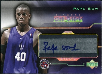 2004/05 Upper Deck Pro Sigs Pro Signs Rookies #PS Pape Sow Autograph