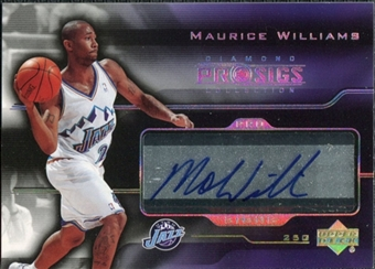 2004/05 Upper Deck Pro Sigs Pro Signs #MW Maurice Williams Autograph