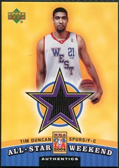 2004/05 Upper Deck All-Star Weekend Authentics #TD Tim Duncan