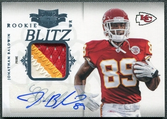 2011 Panini Plates and Patches Rookie Blitz Autograph Materials #16 Jonathan Baldwin Autograph /25