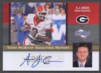 2011 Sweet Spot #TM21 A.J. Green Todd McShay Scouting Report Auto SP