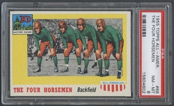 1955 Topps All American Football #68 The Four Horsemen PSA 8 (NM-MT) *4602