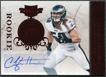 2011 Panini Plates and Patches #116 Casey Matthews RC Autograph /199