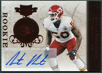 2011 Panini Plates and Patches #144 Justin Houston RC Autograph /405