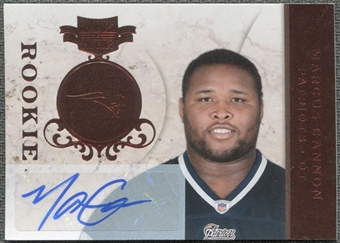 2011 Panini Plates and Patches #151 Marcus Cannon RC Autograph /199