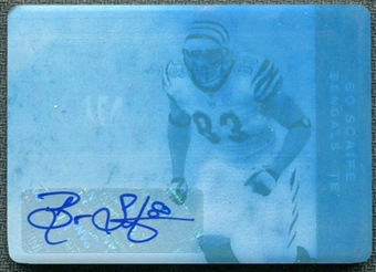2011 Panini Plates and Patches Printing Plates Cyan #93 Bo Scaife Autograph 1/1