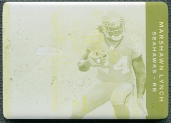 2011 Panini Plates and Patches Printing Plates Yellow #71 Marshawn Lynch 1/1