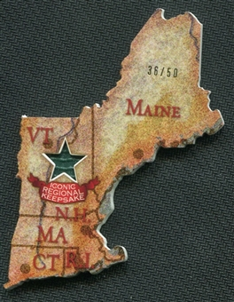 2011 Topps Allen and Ginter State Map Relics #1 New England 36/50