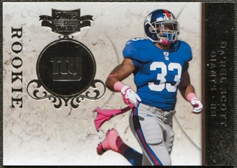 2011 Panini Plates and Patches Silver #122 Da'Rel Scott RC /100