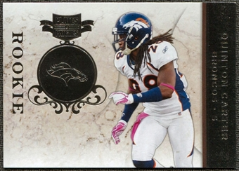 2011 Panini Plates and Patches Silver #161 Quinton Carter RC /100
