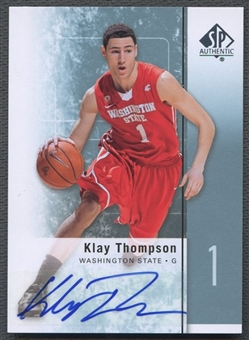 2011/12 SP Authentic #23 Klay Thompson Rookie Auto