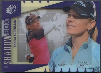 2011 Upper Deck World of Sports #SBAS Annika Sorenstam SPx Shadow Box
