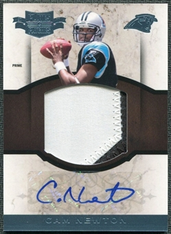 2011 Panini Plates and Patches Rookie Autographed Jumbo Materials Prime #7 Cam Newton RC /25