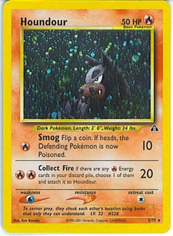 Pokemon Neo Discovery Single Houndour 5/75 - SLIGHT PLAY (SP)