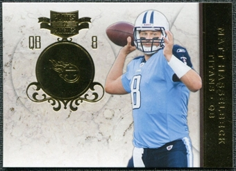 2011 Panini Plates and Patches Gold #37 Matt Hasselbeck /50
