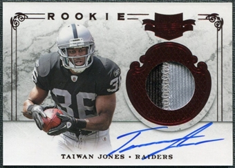 2011 Panini Plates and Patches #233 Taiwan Jones RC Jersey Autograph /499