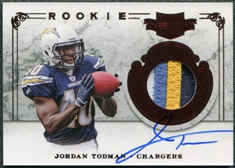 2011 Panini Plates and Patches #236 Jordan Todman RC Jersey Autograph /499