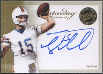 2010 Press Pass #TT Tim Tebow Saturday Signatures Auto