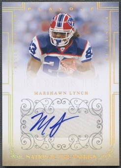 2007 Playoff National Treasures #123 Marshawn Lynch Signature Silver Rookie Auto #30/49