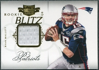 2011 Panini Plates and Patches Rookie Blitz Materials #1 Ryan Mallett /299