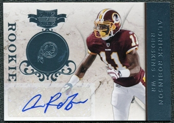 2011 Panini Plates and Patches Signatures Platinum #107 Aldrick Robinson Autograph 1/1