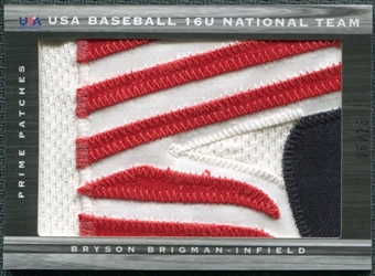 2011 Panini Limited USA Baseball National Teams Prime Patches #44 Bryson Brigman /23