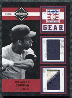 2011 Panini Limited Hall of Fame Gear Prime #7 Orlando Cepeda /20