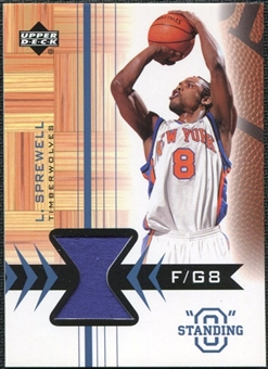 2003/04 Upper Deck Standing O Swatches #LSPH Latrell Sprewell