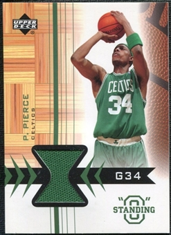 2003/04 Upper Deck Standing O Swatches #PPPH Paul Pierce