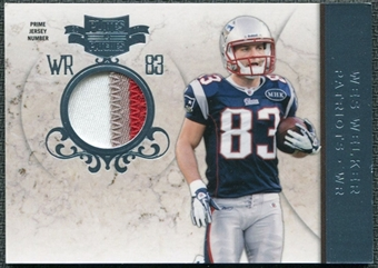 2011 Panini Plates and Patches Jerseys Prime #83 Wes Welker /50 Patch