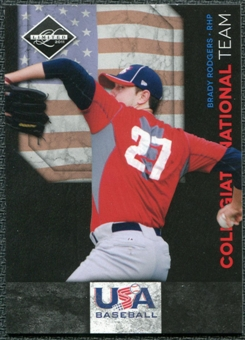 2011 Panini Limited USA Baseball National Team #19 Brady Rodgers /199