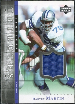 2001 Upper Deck Legends Timeless Tributes Jersey #TTHM Harvey Martin