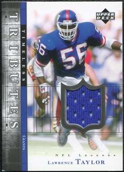 2001 Upper Deck Legends Timeless Tributes Jersey #TTLT Lawrence Taylor