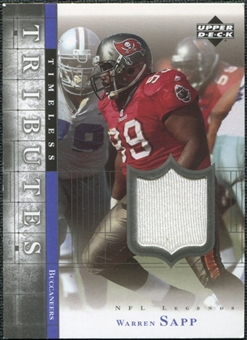 2001 Upper Deck Legends Timeless Tributes Jersey #TTWS Warren Sapp