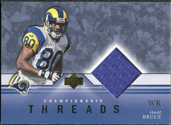 2001 Upper Deck Championship Threads #CTIB Isaac Bruce