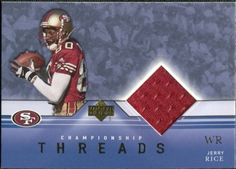 2001 Upper Deck Championship Threads #CTJR Jerry Rice