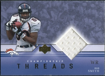 2001 Upper Deck Championship Threads #CTRS Rod Smith