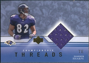 2001 Upper Deck Championship Threads #CTSS Shannon Sharpe