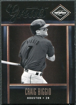 2011 Panini Limited Greats #22 Craig Biggio /299