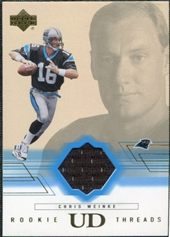 2001 Upper Deck Rookie Threads #RTCW Chris Weinke