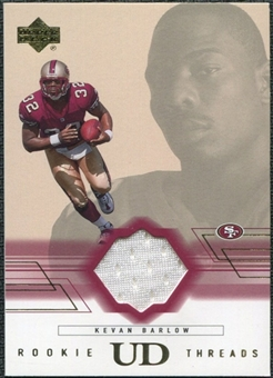2001 Upper Deck Rookie Threads #RTKB Kevan Barlow