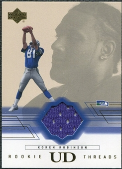 2001 Upper Deck Rookie Threads #RTKR Koren Robinson