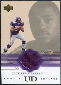 2001 Upper Deck Rookie Threads #RTMB Michael Bennett