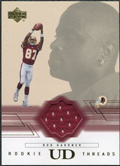 2001 Upper Deck Rookie Threads #RTRG Rod Gardner