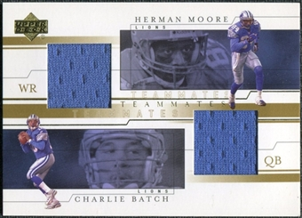 2001 Upper Deck Teammates Jerseys #BMT Charlie Batch/Herman Moore