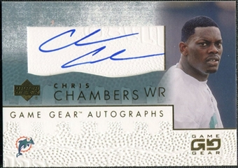 2001 Upper Deck UD Game Gear Autographs #CCGS Chris Chambers Autograph