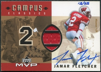 2001 Upper Deck Campus Classics Game Jerseys Autographs #CCSJF Jamar Fletcher 13/25