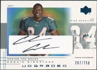 2001 Upper Deck UD Graded Rookie Autographs #65 Chris Chambers Autograph /750