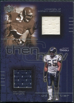 2001 Upper Deck Top Tier Then and Now Jerseys #TNJS Junior Seau