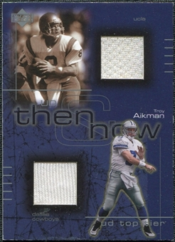 2001 Upper Deck Top Tier Then and Now Jerseys #TNTA Troy Aikman